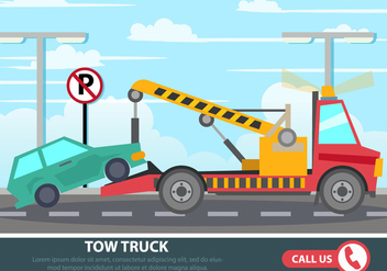 Road Car Assistance - vector #441425 gratis