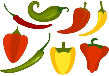 Free Chili Peppers Vector - бесплатный vector #441435