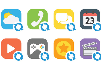 Update Icon Vector Icons - бесплатный vector #441445
