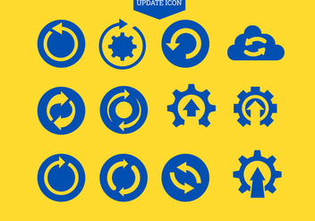 Set of Update Icon Refresh or Repeat Symbol - Free vector #441485