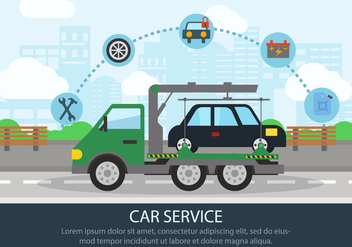 Road Car Assistance - Free vector #441525
