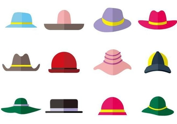 Free Hat Collection Icons Vector - vector gratuit #441535