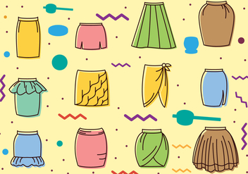 Vintage Skirts Icons - vector gratuit #441565