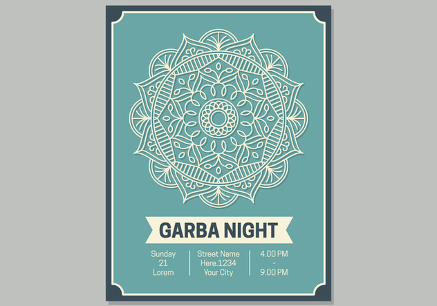 Garba Poster Template - Free vector #441595