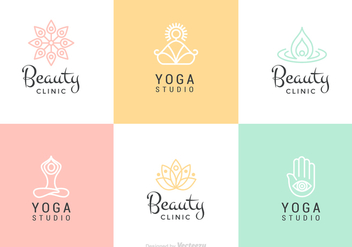 Beauty And Yoga Vector Logo Set - бесплатный vector #441645