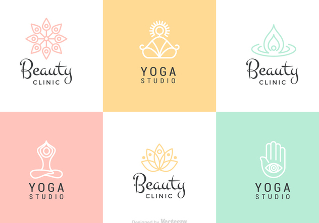 Beauty And Yoga Vector Logo Set - Free vector #441645