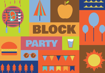 Block party vector icons - vector gratuit #441655