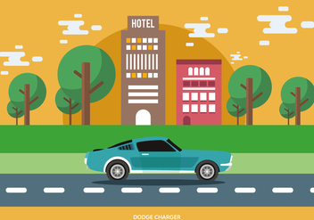 Classic Muscle Car - vector gratuit #441665