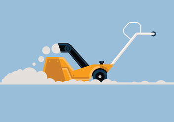 Snow blower vector illustration - бесплатный vector #441675