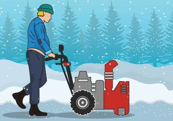 Snow blower vector illustration - vector gratuit #441685