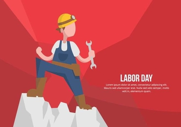 Labor Day Illustration - vector gratuit #441715