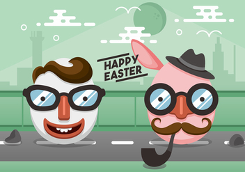 Hipster Easter Vector Design - vector gratuit #441735