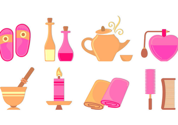 Set Of Beauty Clinic Icons - Free vector #441825