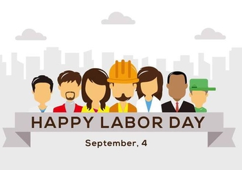 Free Happy Labor Day Vector - vector gratuit #441845