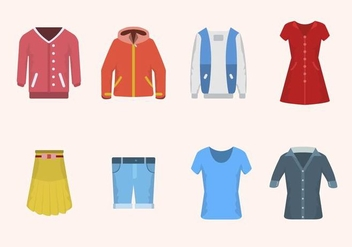 Flat Clothes Vectors - бесплатный vector #441865