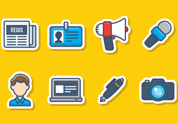 Journalism Icon Set - Free vector #441875