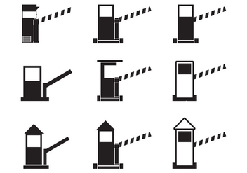 Toll booth icon set - Free vector #441895