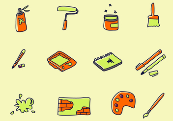Street Art Icons Vector Collection - Free vector #441915