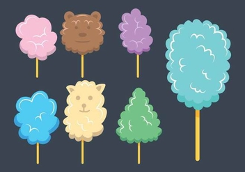 Candy floss vector set - vector #441925 gratis
