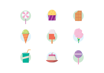 Sweets and Desserts Icons - vector #441935 gratis