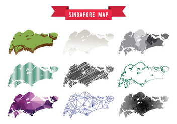 Singapore Map Vector - vector gratuit #441975