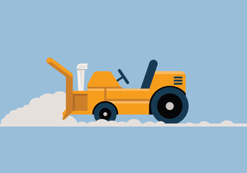 Snow blower vector illustration - бесплатный vector #441995