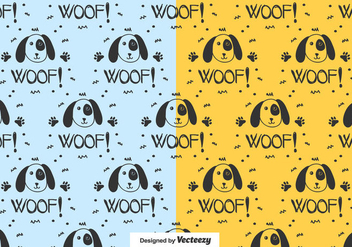 Dog Pattern Vector - vector #442015 gratis