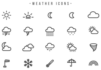 Free Weather Vectors - бесплатный vector #442045