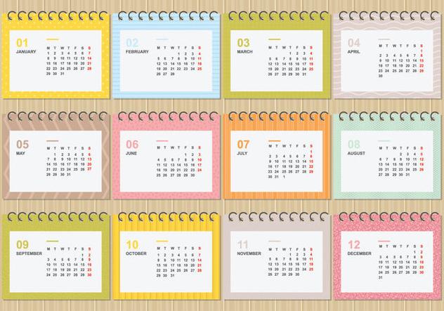 Descargar Vector Gratis Escritorio Calendario 2018 Con ...