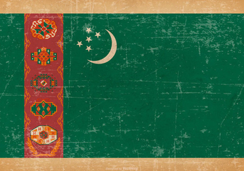 Grunge Flag of Turkmenistan - Free vector #442235