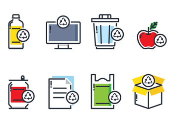 Recycle Item Icon - Kostenloses vector #442245