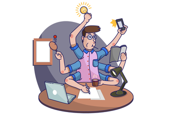 Multitasking Task Vector Illustration - vector gratuit #442255