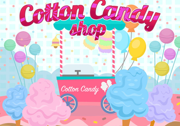 Candy Floss Land - vector gratuit #442265