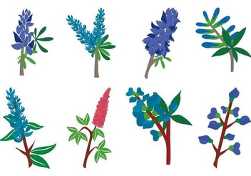 Free Bluebonnet Flower Vector - бесплатный vector #442275