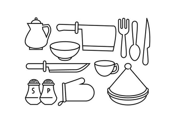 Free Kitchen Line Icon Vector - Free vector #442325