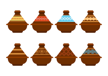 Free Tajine Pot Vector Pack - бесплатный vector #442345
