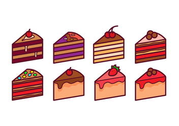 Cake Slice Vector Pack - бесплатный vector #442405
