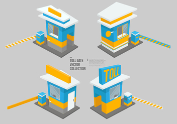 Toll Gate Vector Collection - vector gratuit #442425