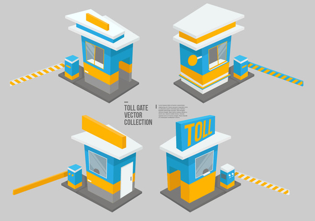 Toll Gate Vector Collection - бесплатный vector #442425