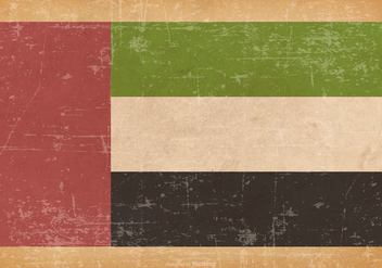 Old Grunge Flag of United Arab Emirates - vector gratuit #442505