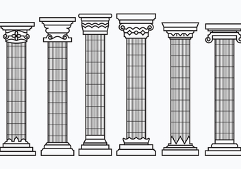 Set of Corinthian Columns - vector gratuit #442525