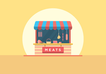 Butcher and Charcuterie Shop - vector gratuit #442585