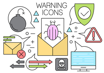 Linear Computer Threat Vector Elements - Free vector #442605