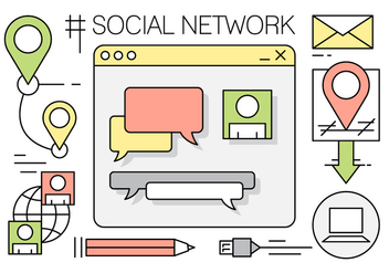 Free Social Network Elements - vector gratuit #442645