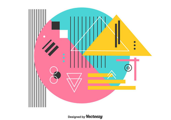 Colorful Geometric Vector - vector #442715 gratis