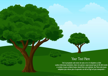 Landscape Illustration with Space for Text - vector #442725 gratis