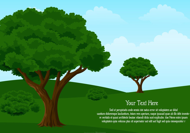 Landscape Illustration with Space for Text - vector gratuit #442725