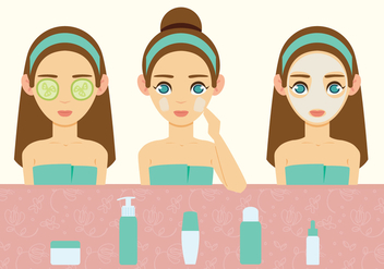 Spa Treatment Vector - бесплатный vector #442735