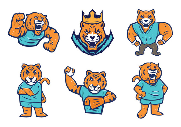 Free Tigers Mascot Vector Free Vector Download 442755   CannyPic