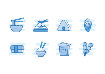 Free Asian Food Vector Icons - vector gratuit #442765